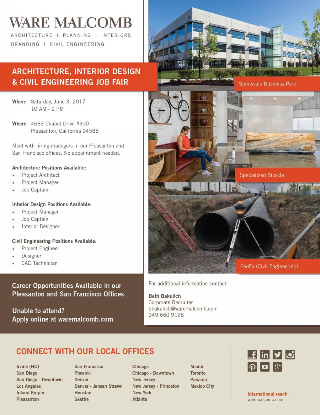 Ware Malcomb Architecture Interior Design Civil Engineering Job Fair